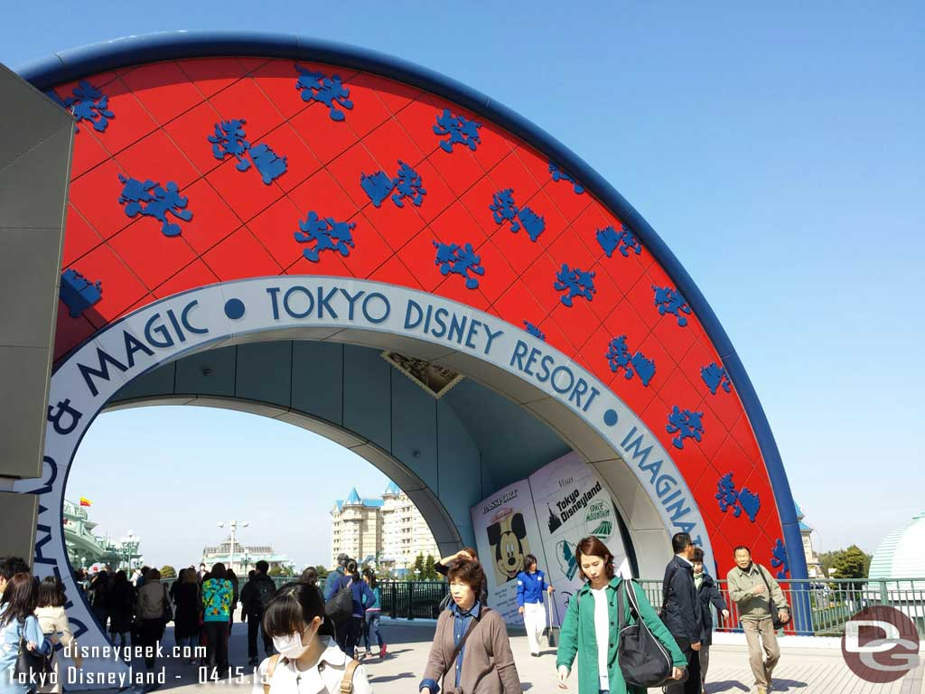 Walking toward #TokyoDisneyland