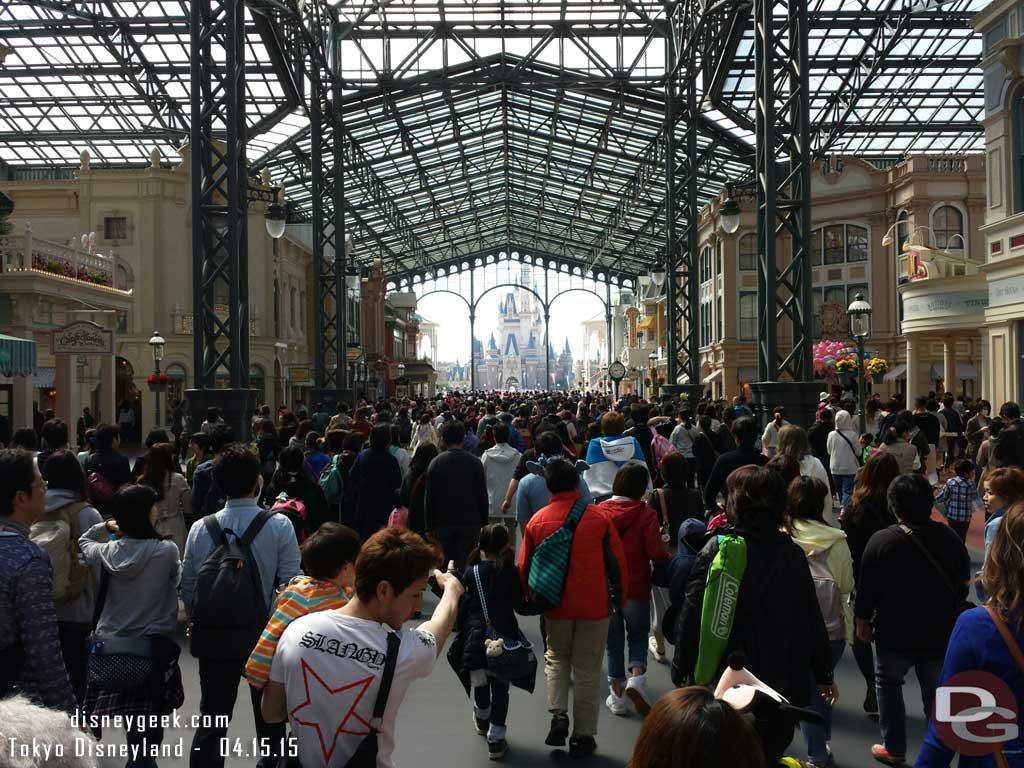 World Bazaar and Cinderella Castle beyond #TokyoDisneyland
