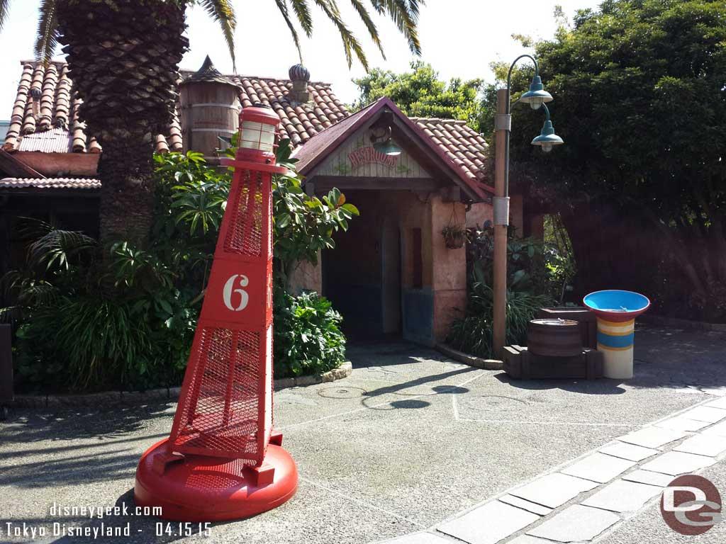 A restroom building in Adventureland #TokyoDisneyland