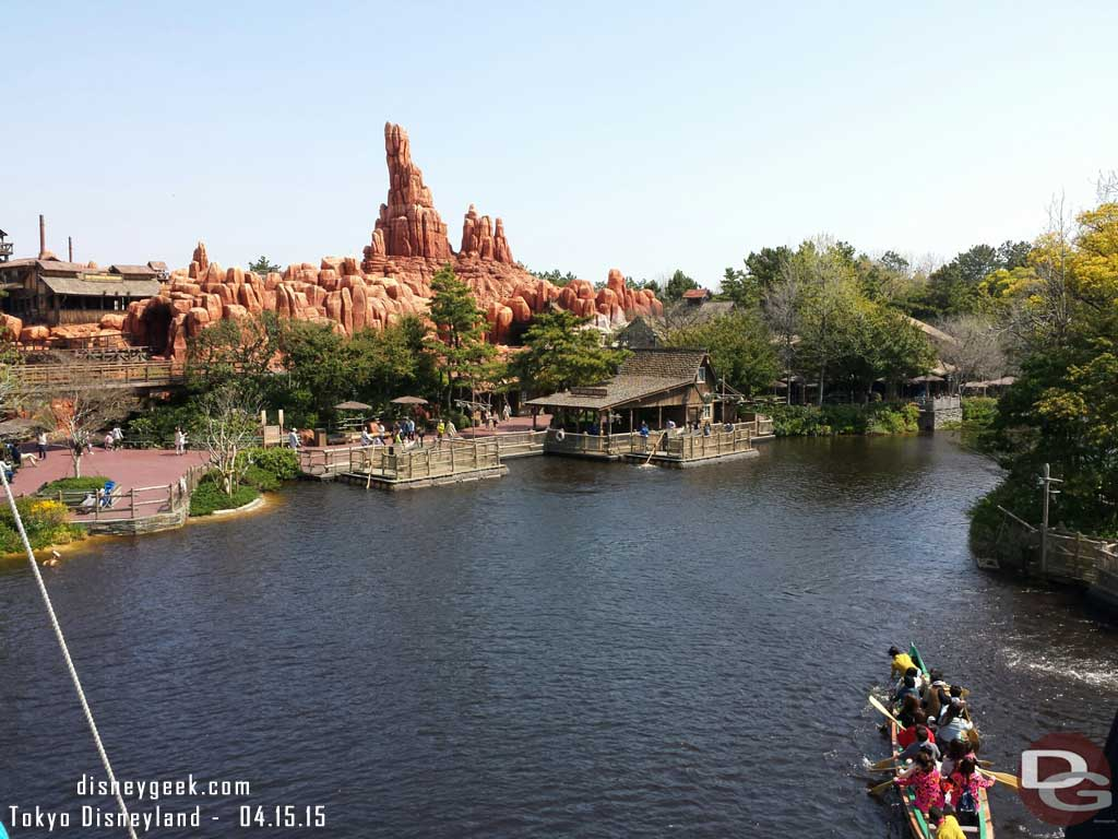 Big Thunder & the Rivers of America from the Mark Twain #TokyoDisneyland