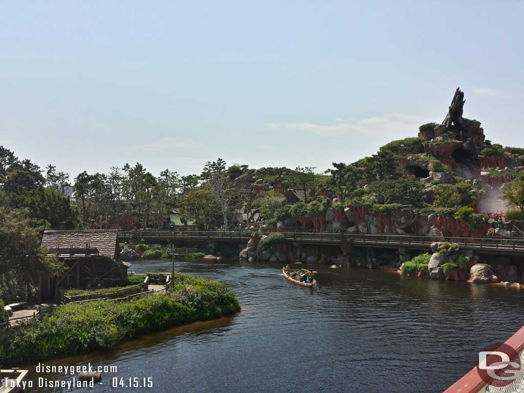 Splash Mountain & the Rivers of America from the Mark Twain #TokyoDisneyland