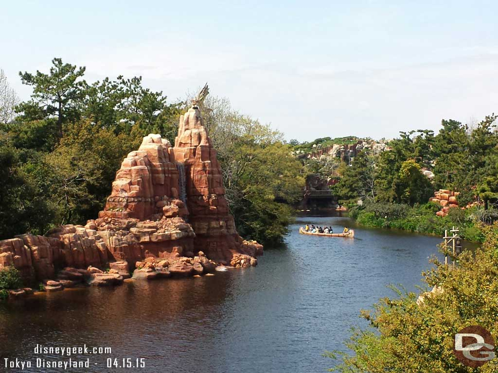 Rivers of America from the Mark Twain #TokyoDisneyland