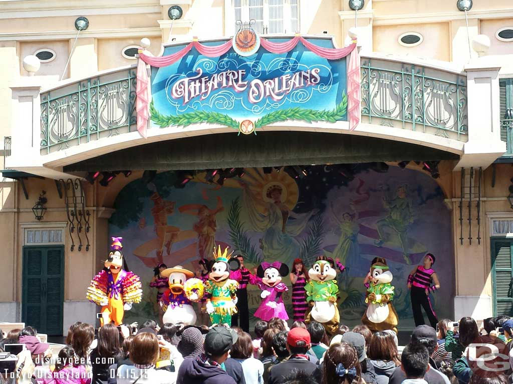 The cast on stage at Theatre Orleans #TokyoDisneyland