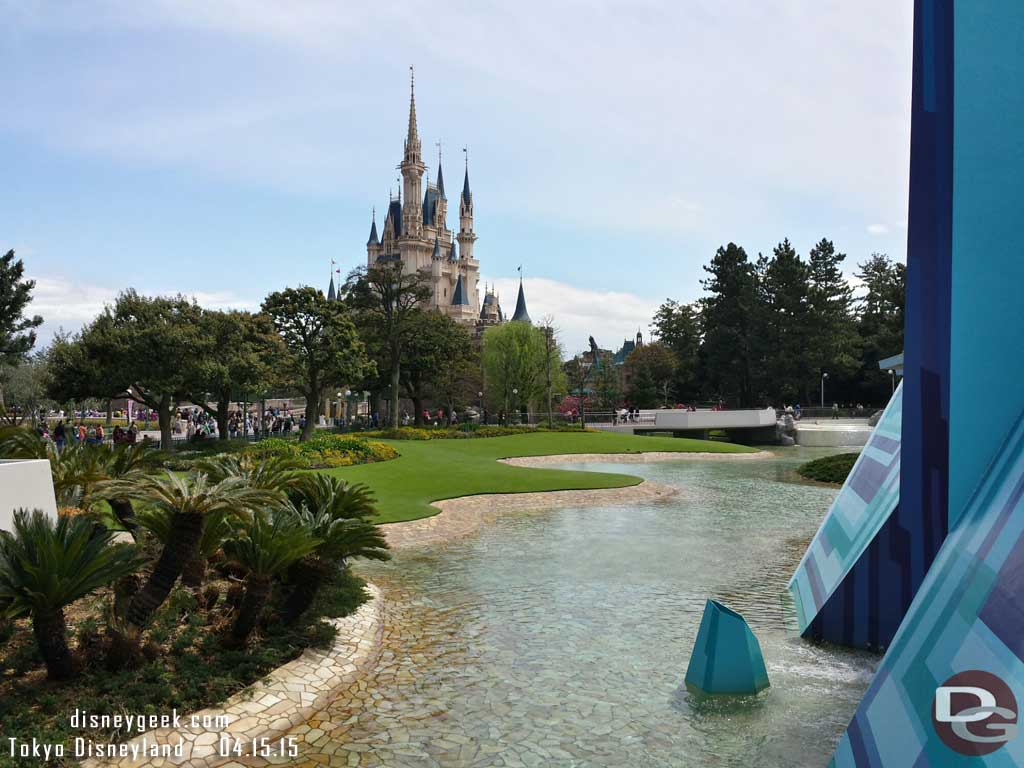 Cinderella Castle from Tomorrowland #TokyoDisneyland
