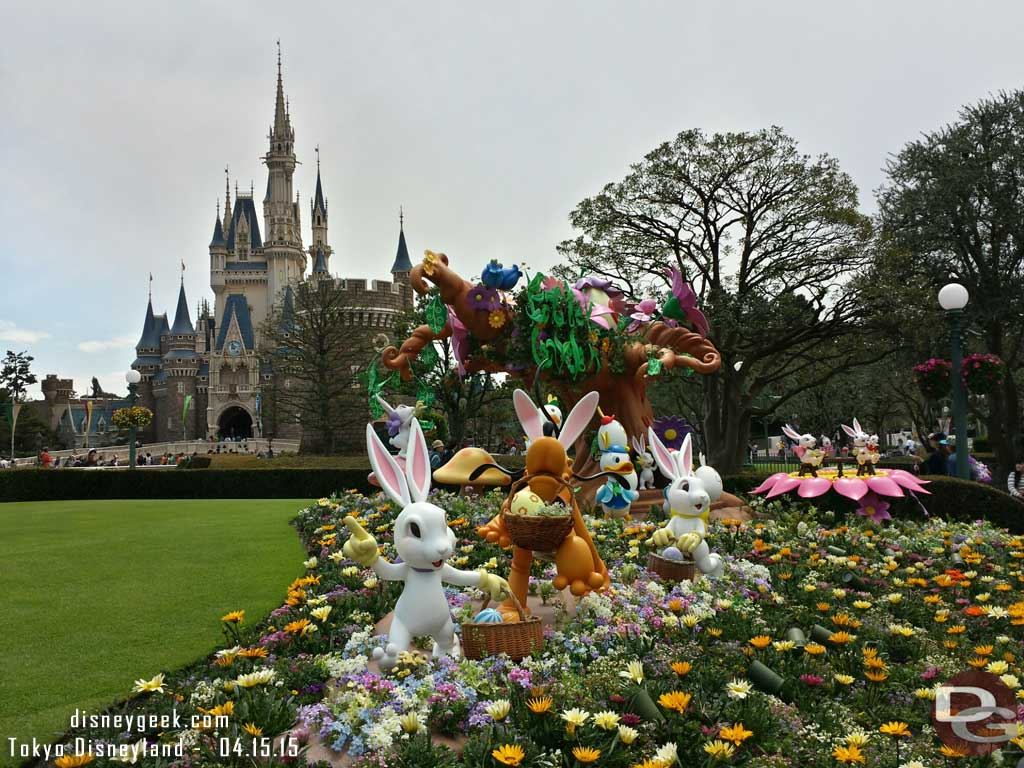 Easter displays in the hub #TokyoDisneyland