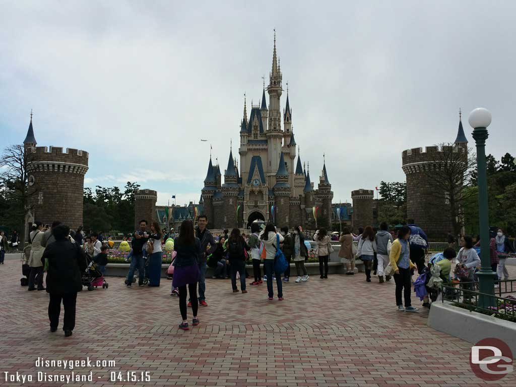 Cinderella Castle from the hub #TokyoDisneyland