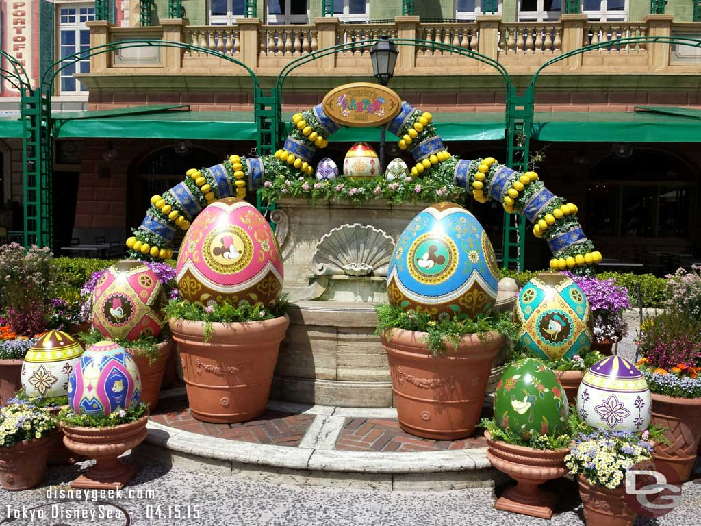 Easter eggs in the Mediterranean Harbor #TokyoDisneySea