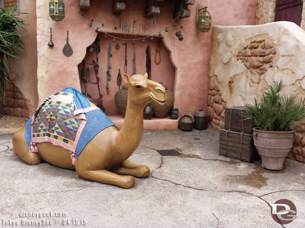 Camel photo op in the Arabian Coast #TokyoDisneySea