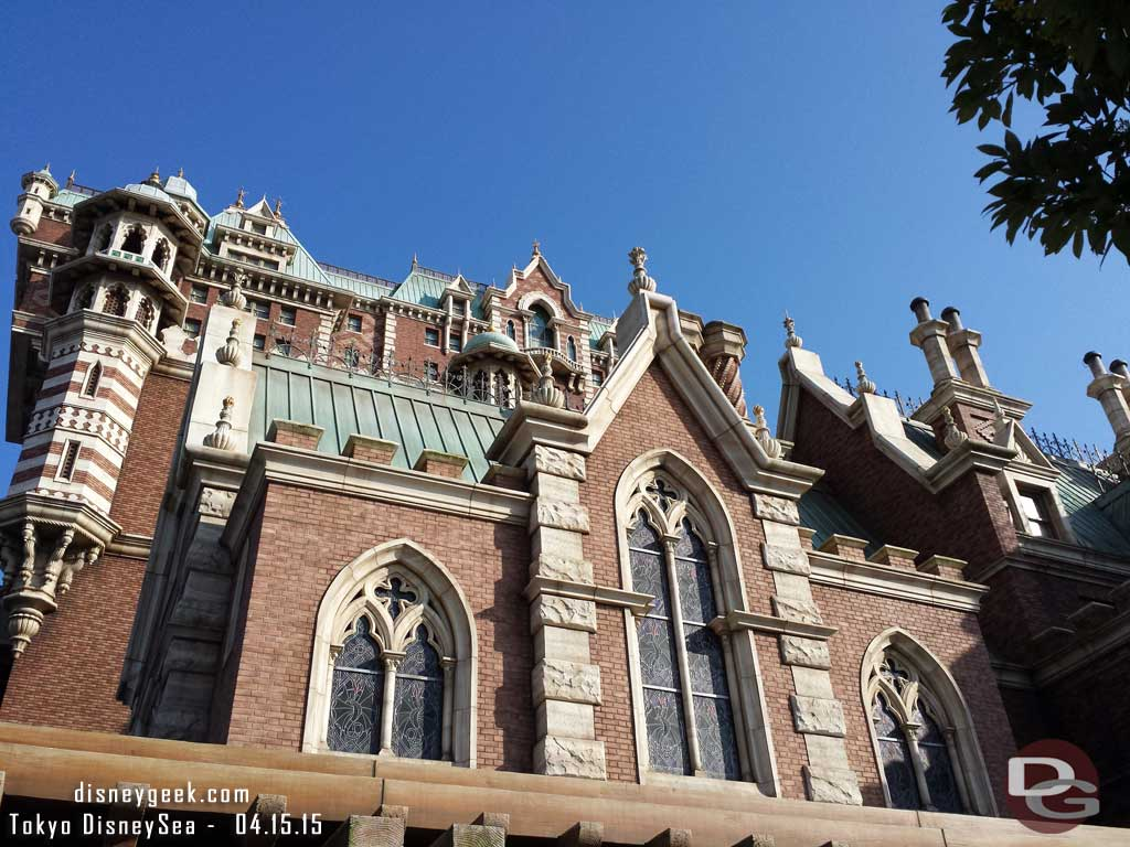 Looking up at the Tower of Terror #TokyoDisneySea