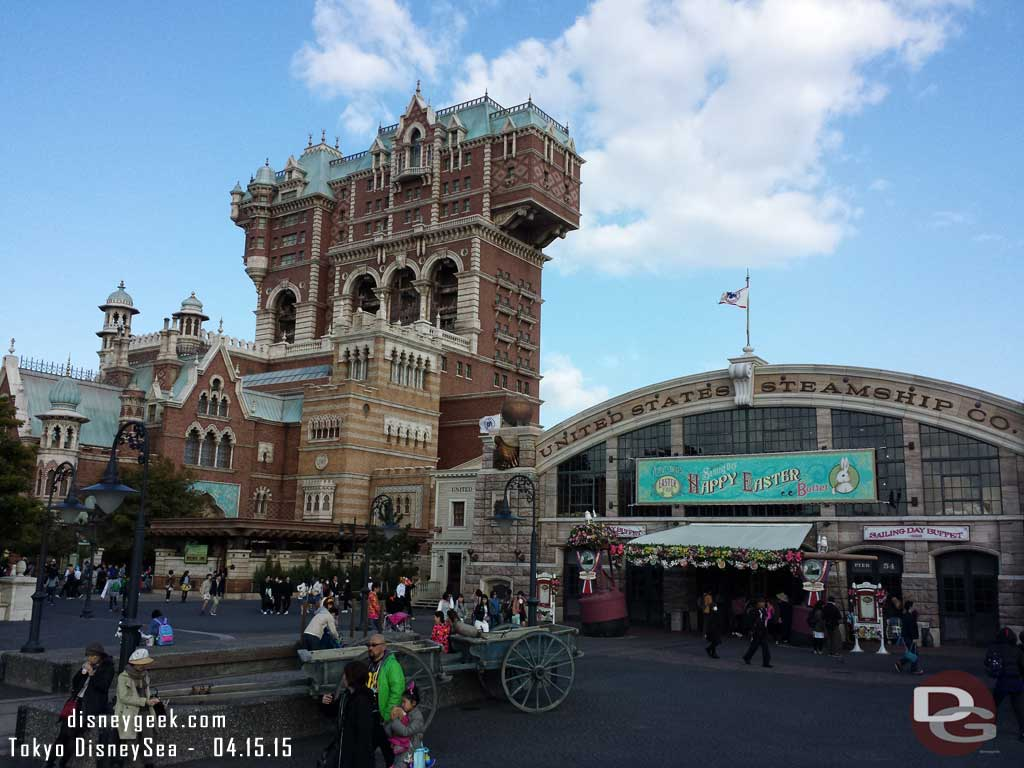 Tower of Terror from the American Waterfront #TokyoDisneySea