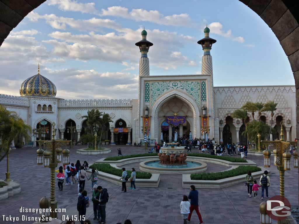 Arabian Coast courtyard with clouds #TokyoDisneySea