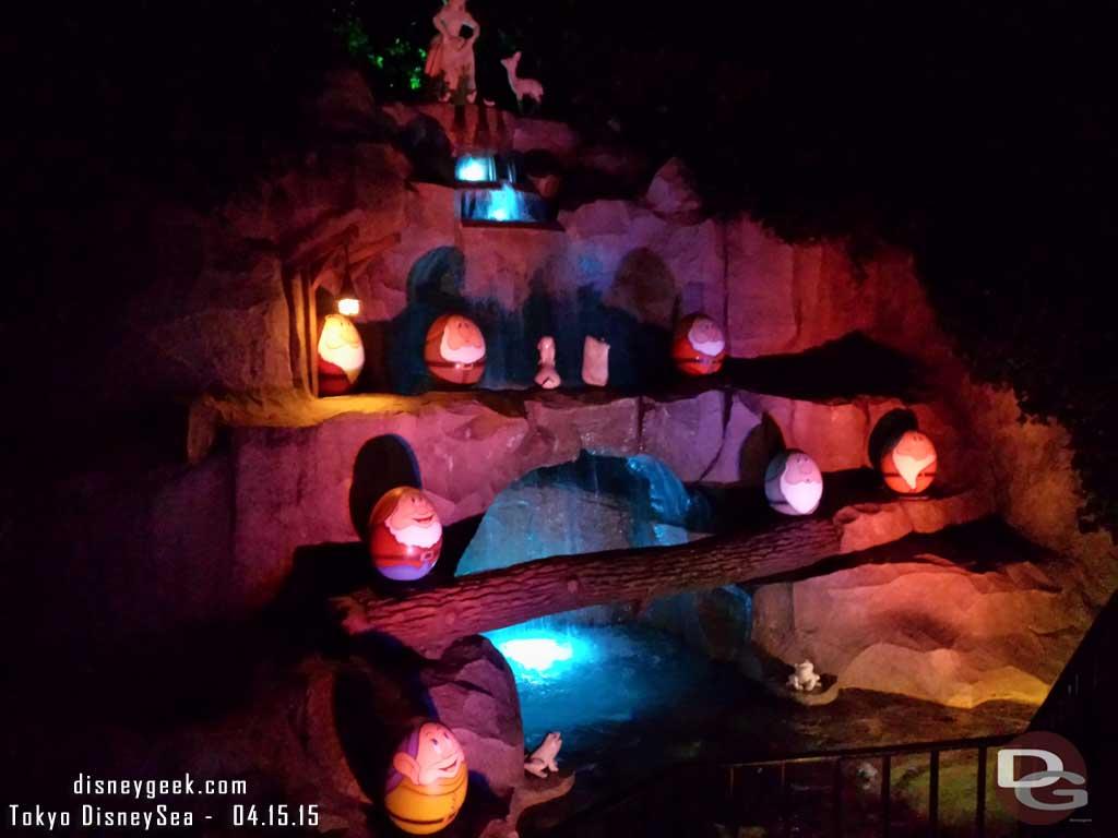 Snow White Grotto featuring dwarf eggs #TokyoDisneyland
