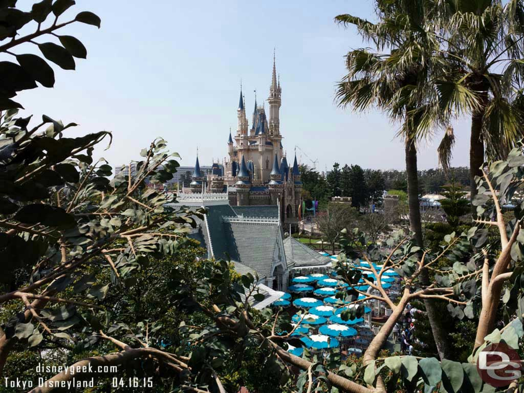 Cinderella Castle from the Swiss Family treehouse #TokyoDisneyland