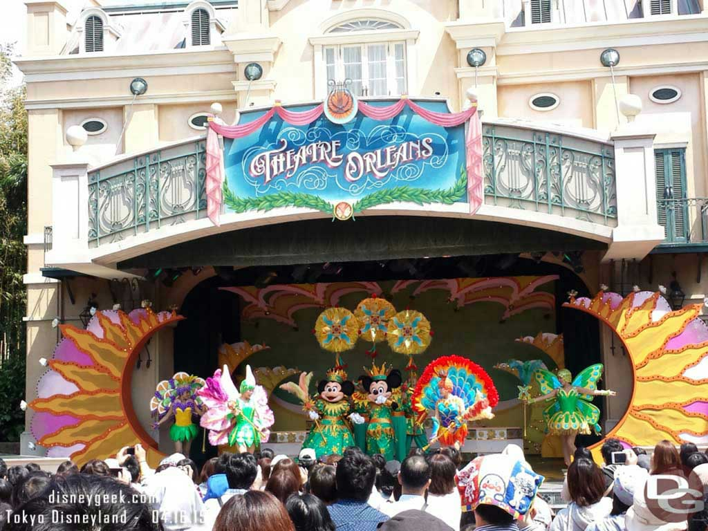 Mickey & Minnie on stage at Minnie Oh! Minnie #TokyoDisneyland