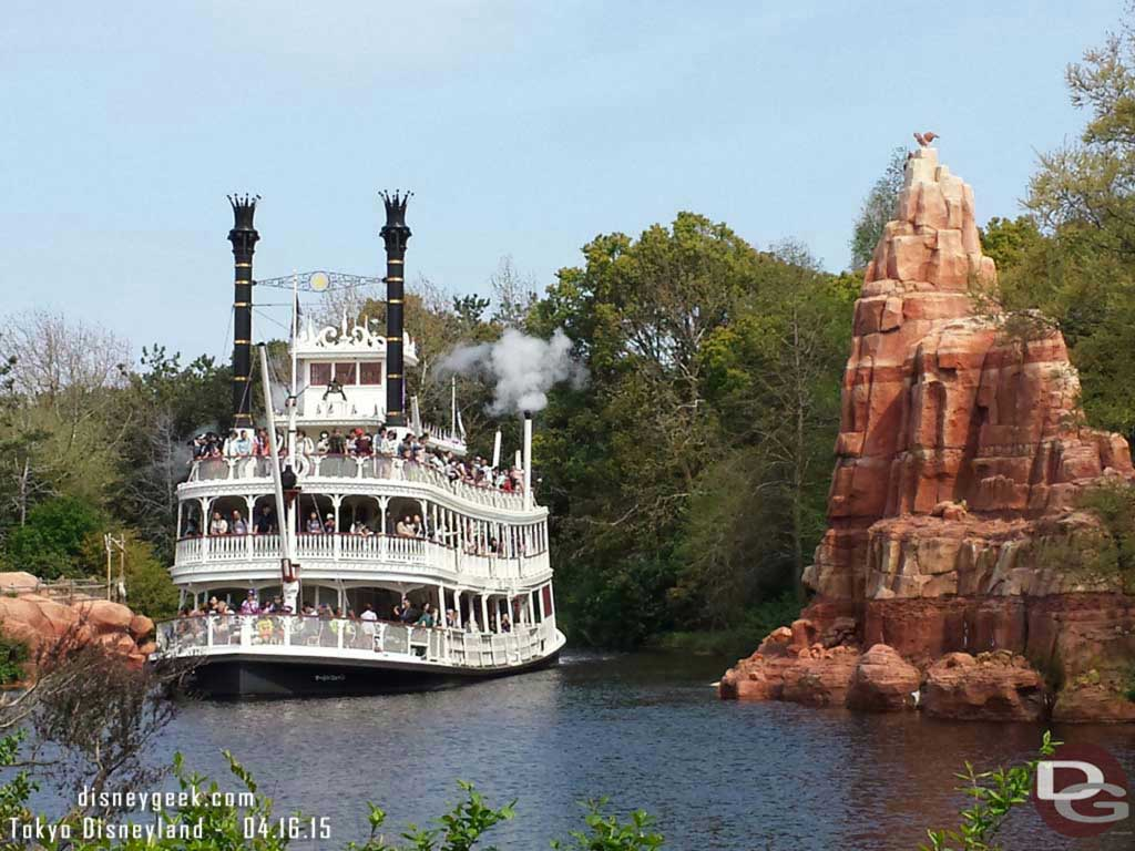 The Mark Twain on the Rivers of America #TokyoDisneyland