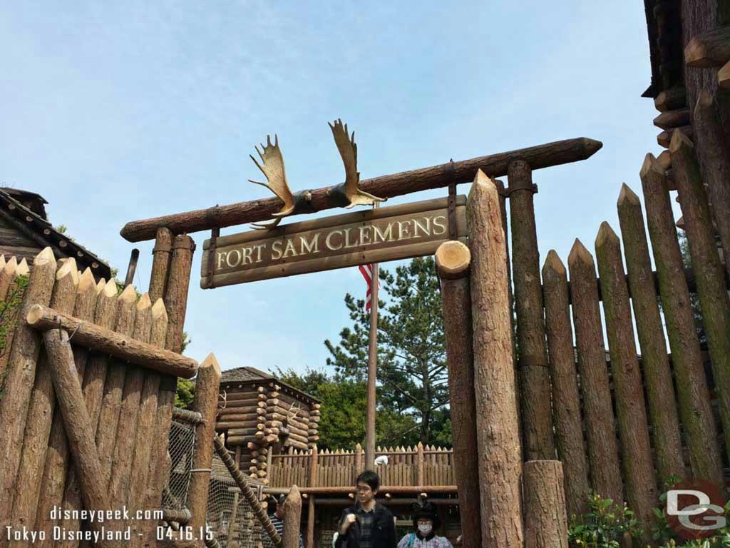 Fort Sam Clemens on Tom Sawyer Island #TokyoDisneyland