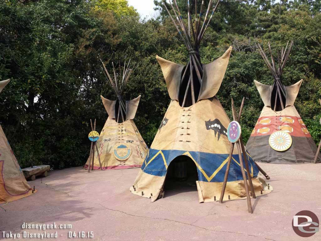 An Indian village to visit on Tom Sawyer Island #TokyoDisneyland