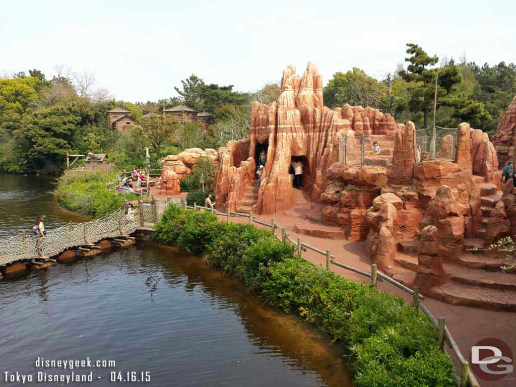 Tom Sawyer Island from the suspension bridge #TokyoDisneyland