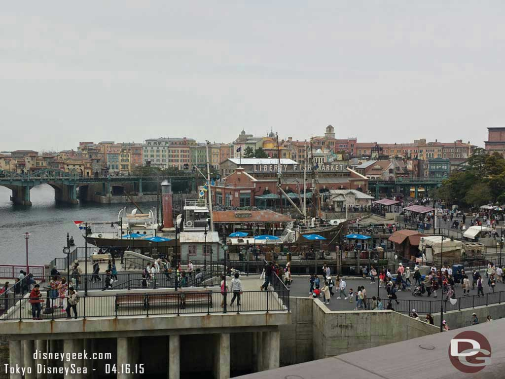 The American Waterfront from the Columbia #TokyoDisneySea