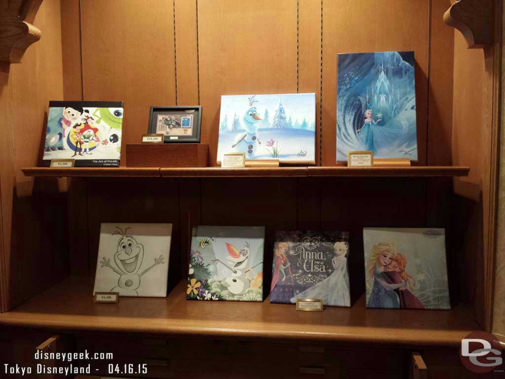 #Frozen art in the Disney Gallery #TokyoDisneyland