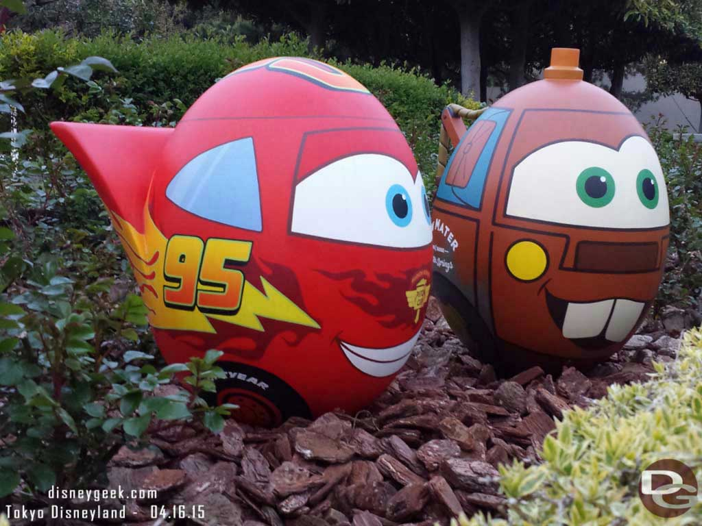Lightning & Mater eggs near the Raceway #TokyoDisneyland