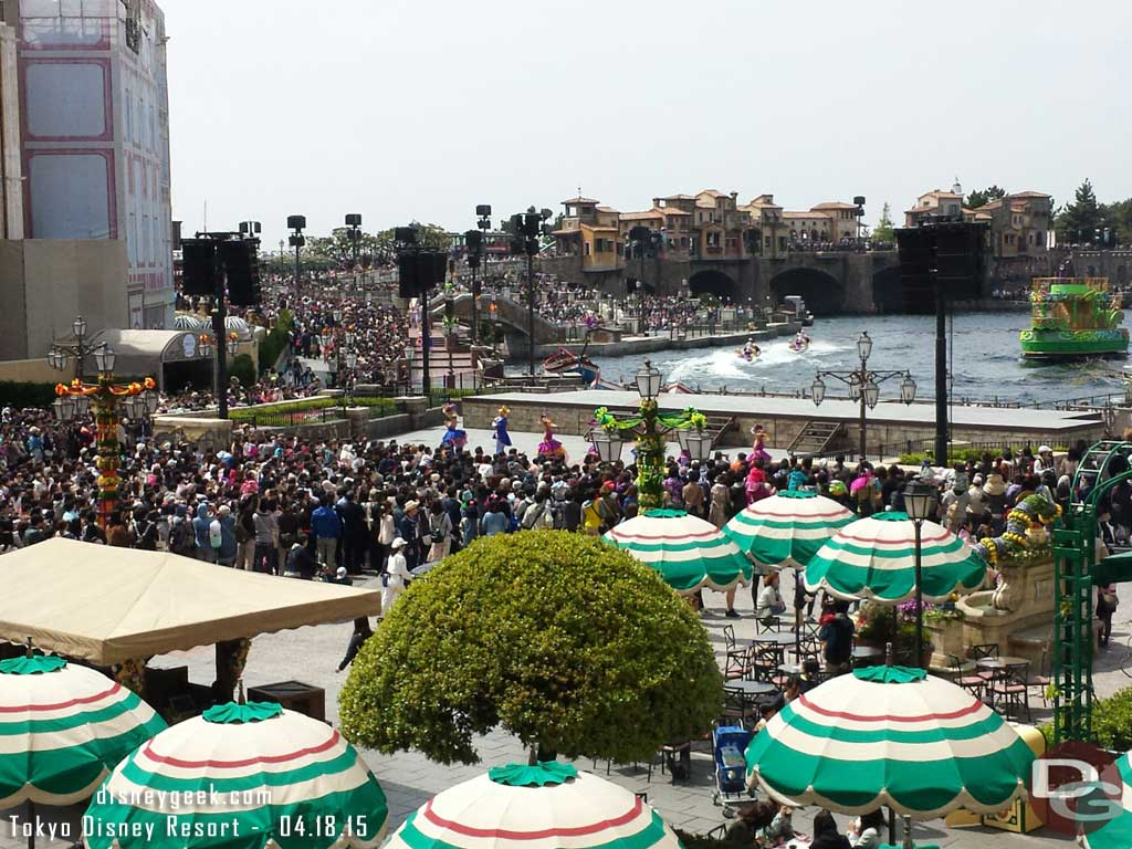 A look into #TokyoDisneySea from Hotel MiraCosta as Fashionable Easter is underway