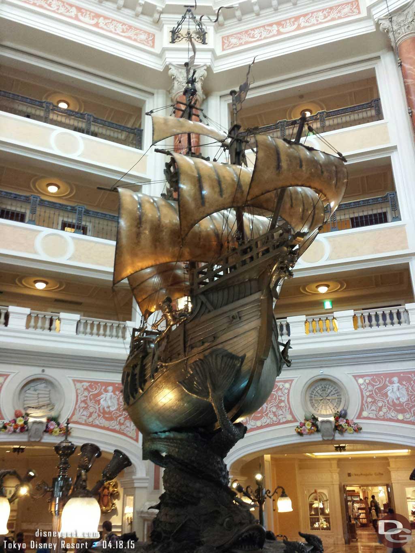 #TokyoDisneySea Hotel MiraCosta lobby ship sculpture