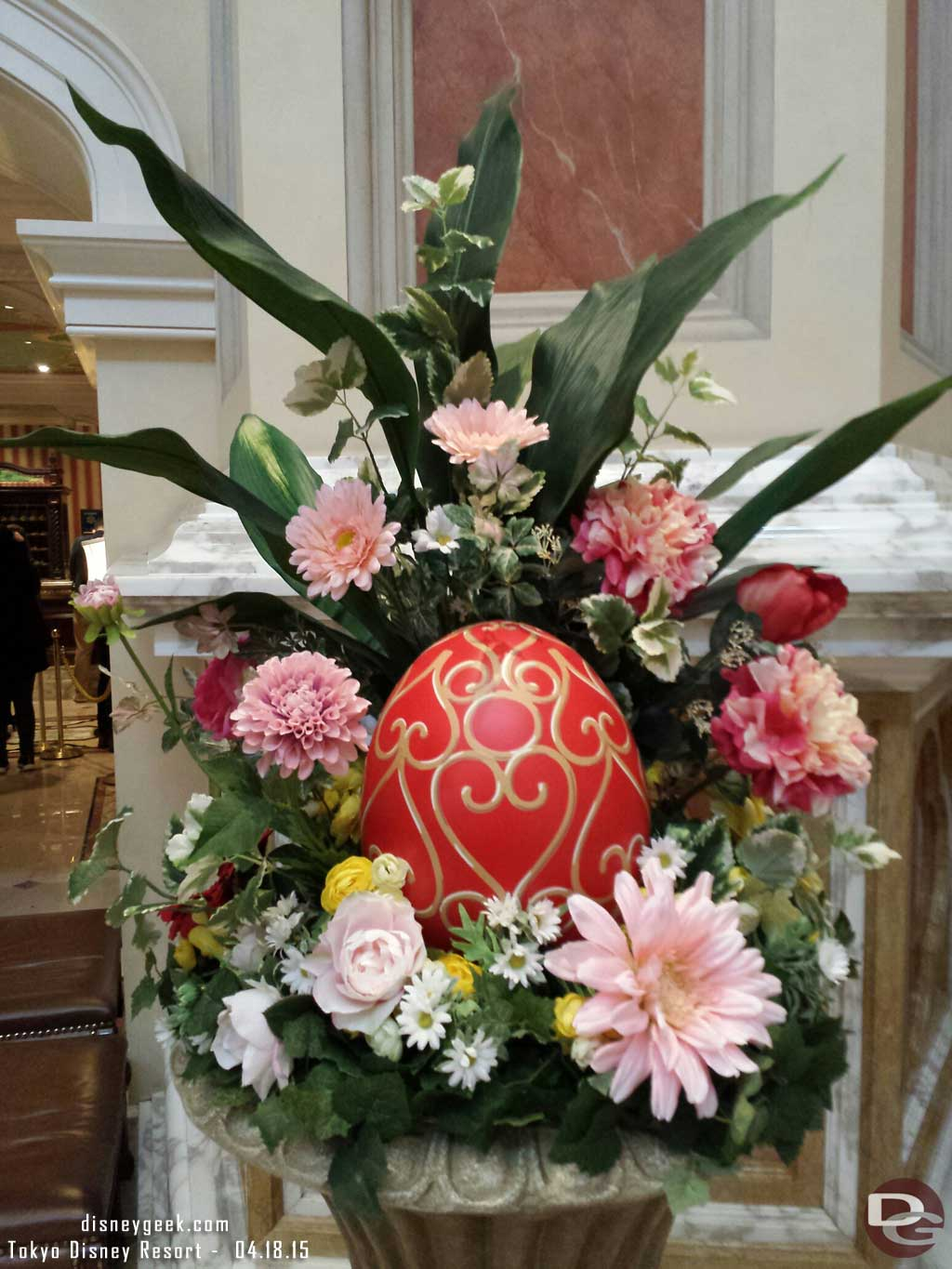 An Easter Egg on display in the #TokyoDisneySea Hotel MiraCosta lobby