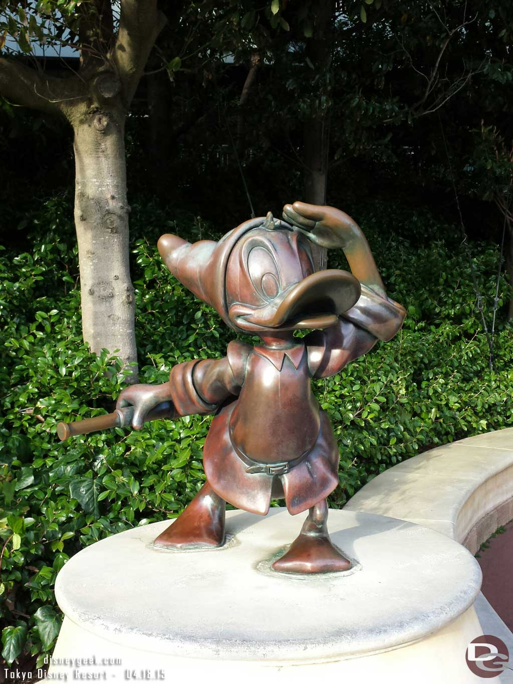 Donald statue at the entrance to #TokyoDisneySea