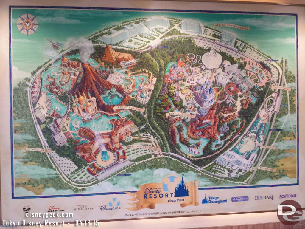 Mural of the #TokyoDisneyResort at the Resort Gateway Station
