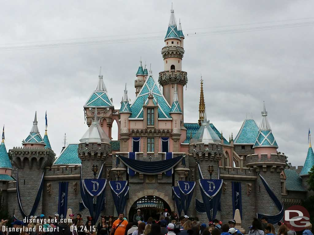 Sleeping Beauty Castle is almost ready for #Disneyland60