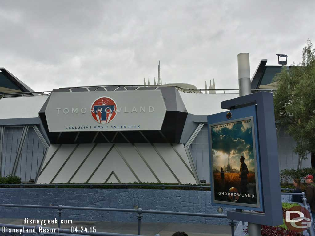 A sneak peek of the upcoming Tomorrowland film has moved into Tomorrowland #Disneyland
