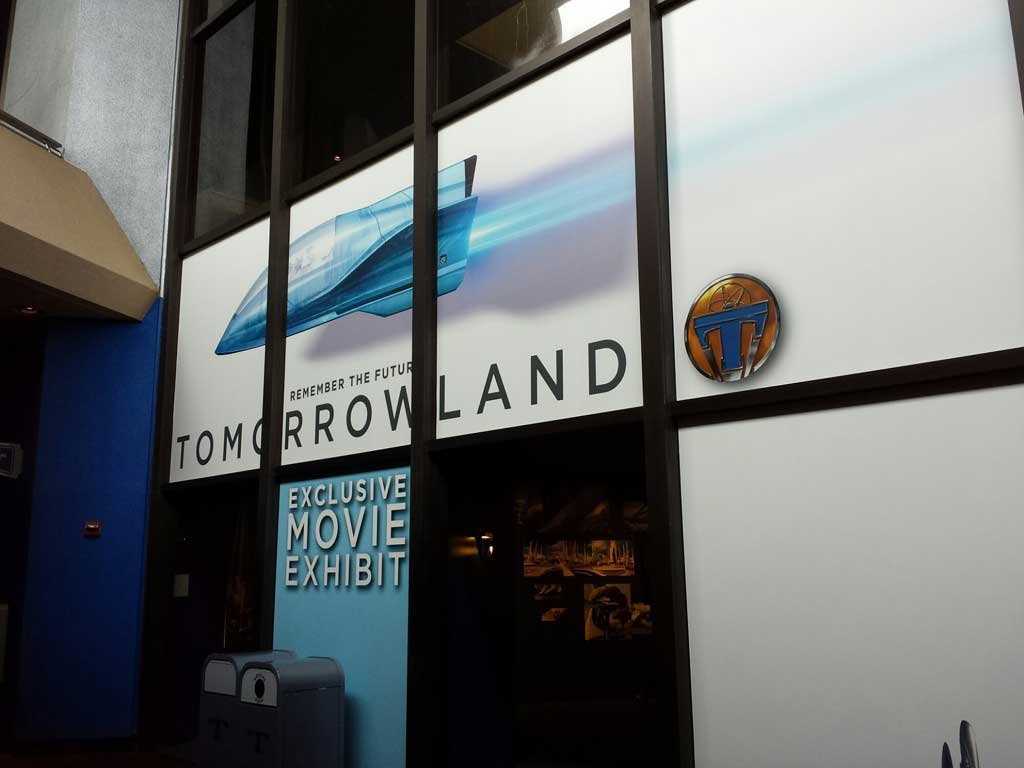 The back of the Starcade features an exhibit on the nee Tomorrowland film