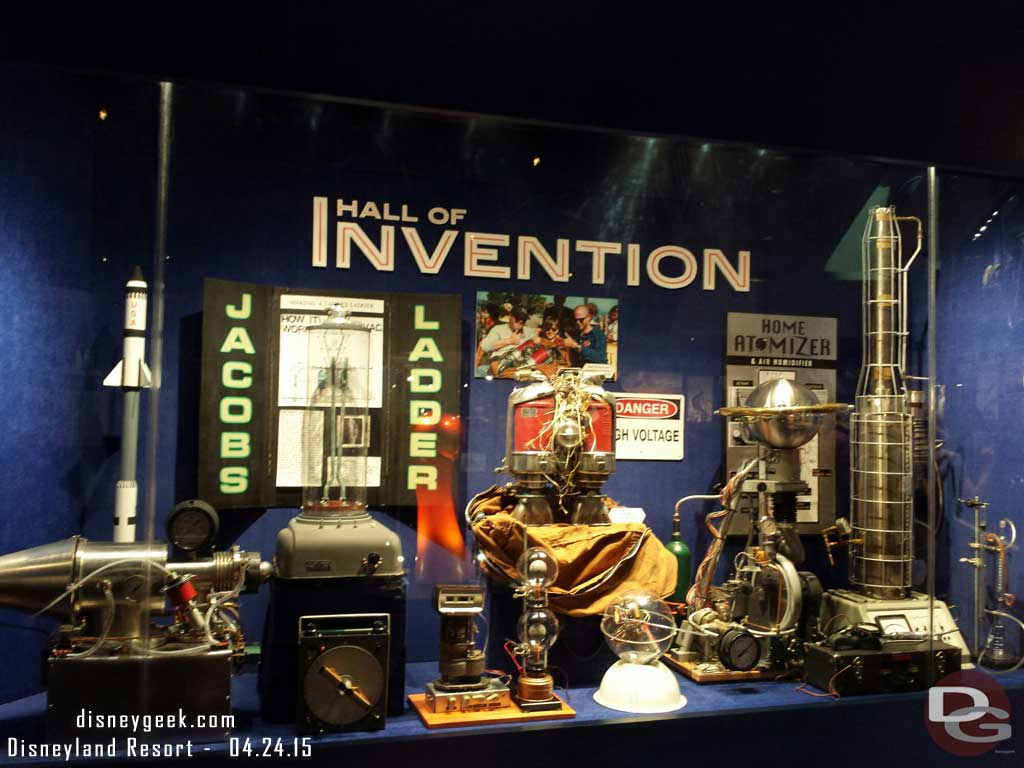 Hall of Invention props from the upcoming Tomorrowland film #Disneyland