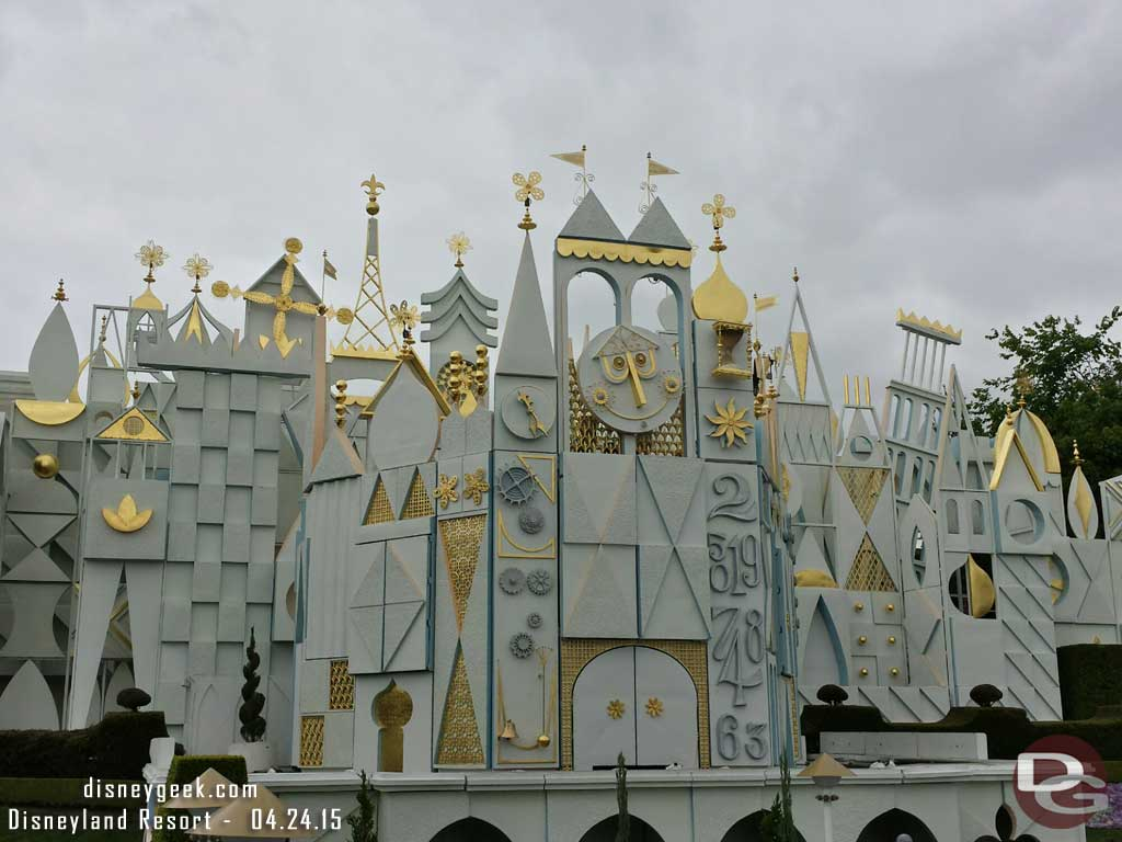 Most of the Small World facade work is completed #Disneyland