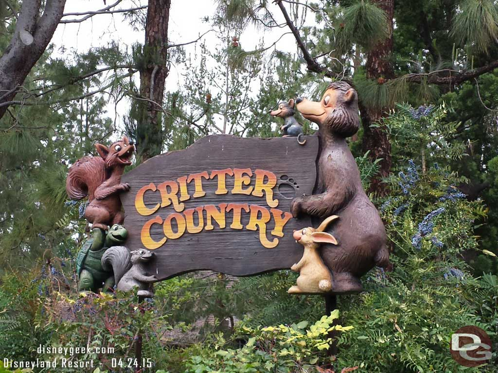 Critter Country has reopened since my last visit #Disneyland