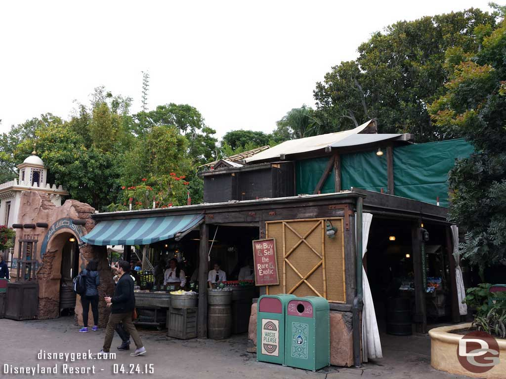 The roof of Tropical Imports has been cleared in Adventureland