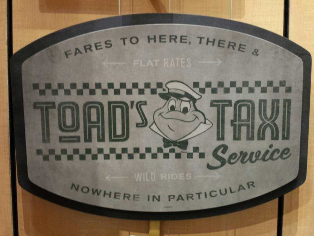 Toad's Taxi Service sign ($125) in World of Disney #Disneyland