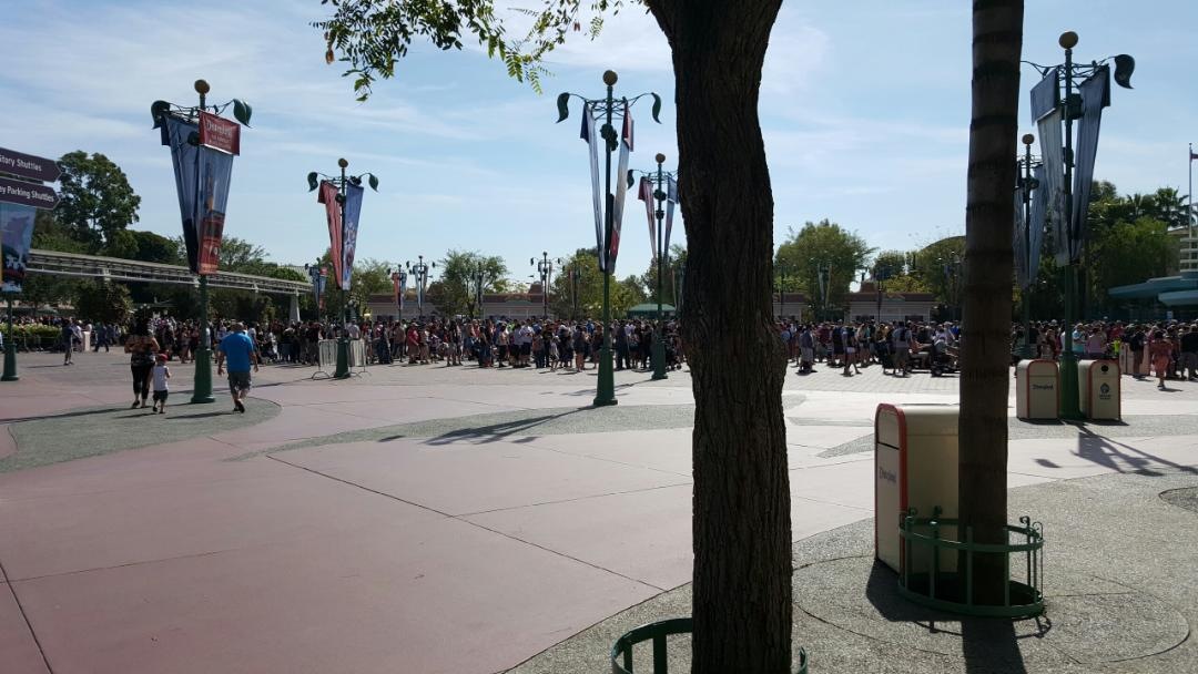 #Disneyland Esplanade this morning 10 min till park opening (thanks Teri for the pic)