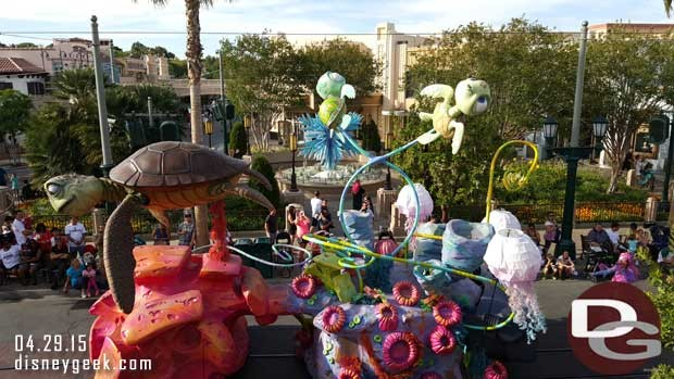 Pixar Play Parade from the Carthay Circle Restaurant