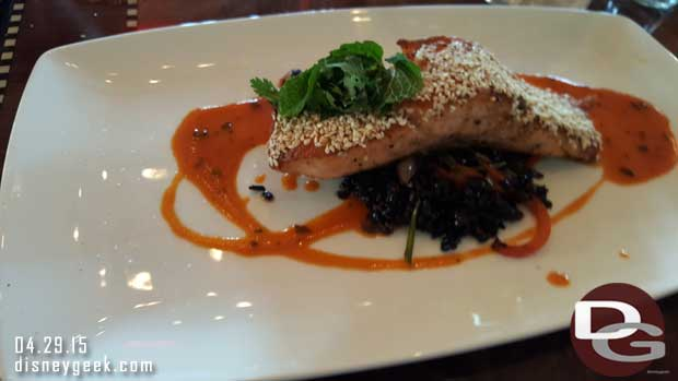 Carthay Circle Restaurant - Soy Sesame Glazed Skuna Bay Salmon