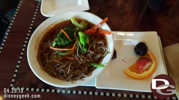 Carthay Circle Restaurant - Children's Soba Noodle Bowl