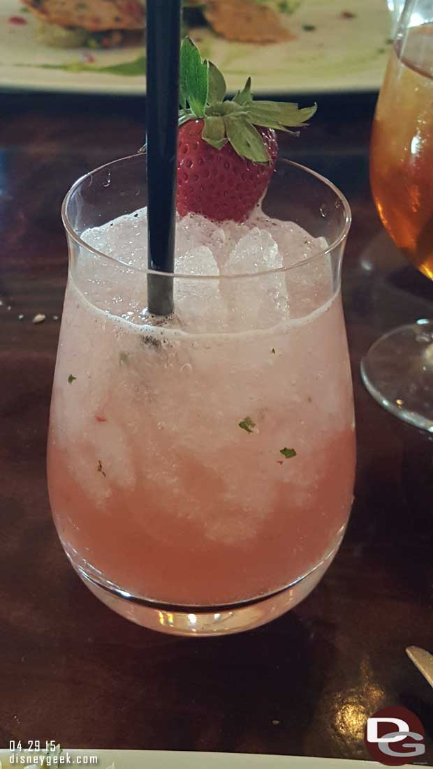 Carthay Circle Restaurant - strawberry mojito