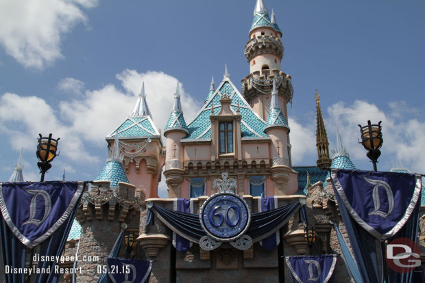 Sleeping Beauty Castle - Decorated for Disneyland 60th