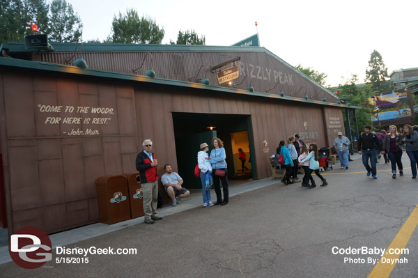 The restrooms at Grizzly Peak in DCA
