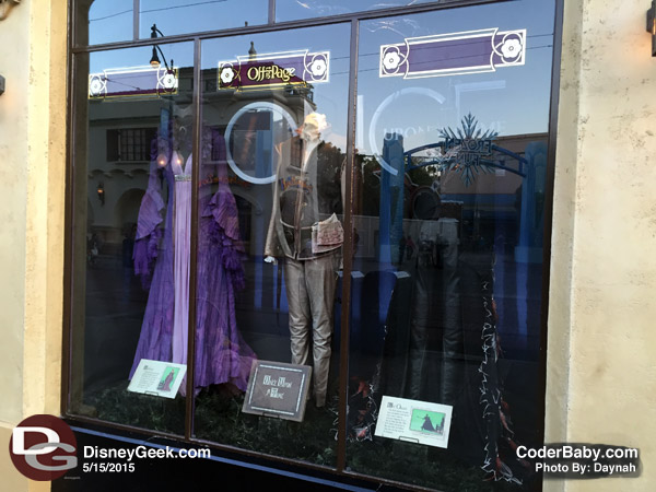 """Once Upon a Time"" costumes are on displayed at ""Off the Page"" in Disney California Adventure."
