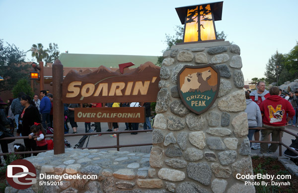 Signage of Soarin' Over California at DCA