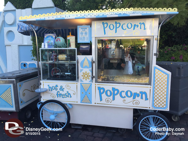 "Popcorn Cart at Disneyland near ""It's a Small World."""