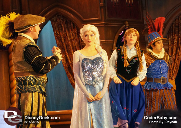 We watched the Frozen show at the Royal Theatre in FantasyLand