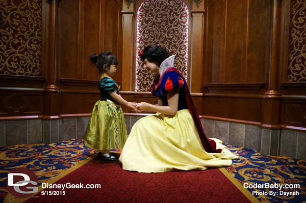 Snow White at the Royal Hall in FantasyLand